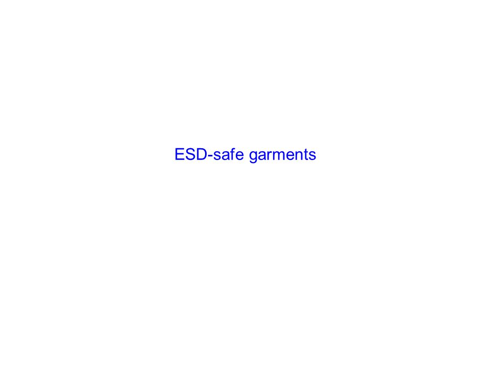 ESD-safe garments