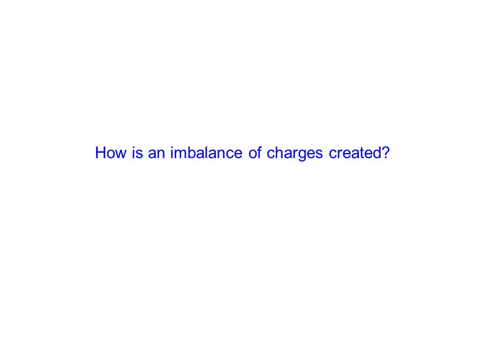 How is an imbalance of charges created?