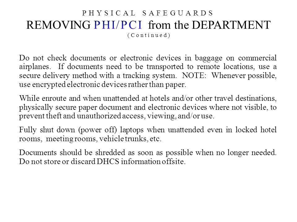 Do not check documents or electronic devices in baggage on commercial airplanes.