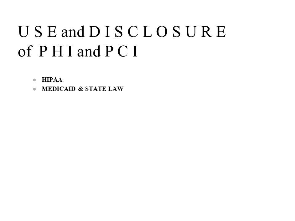 HIPAA MEDICAID & STATE LAW