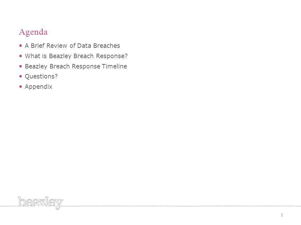A Brief Review of Data Breaches What is Beazley Breach Response.