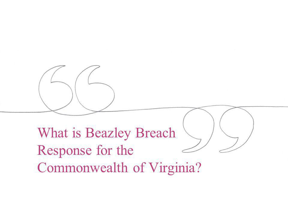 What is Beazley Breach Response for the Commonwealth of Virginia