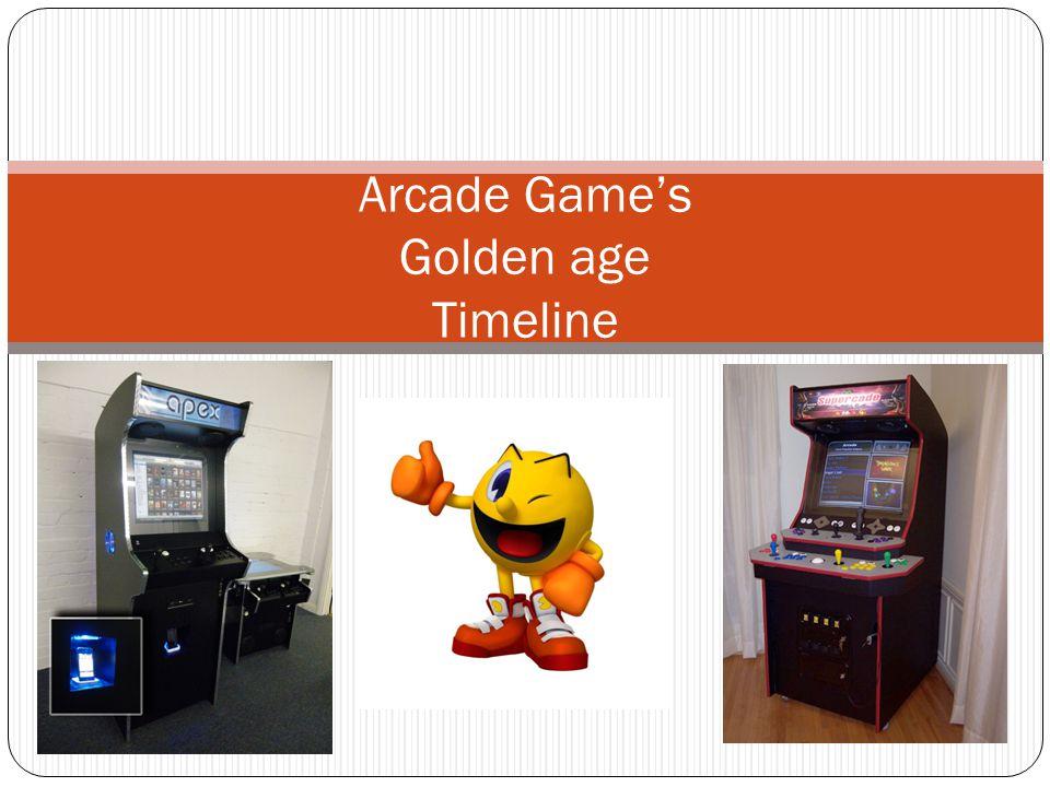 Arcade Games Golden age Timeline