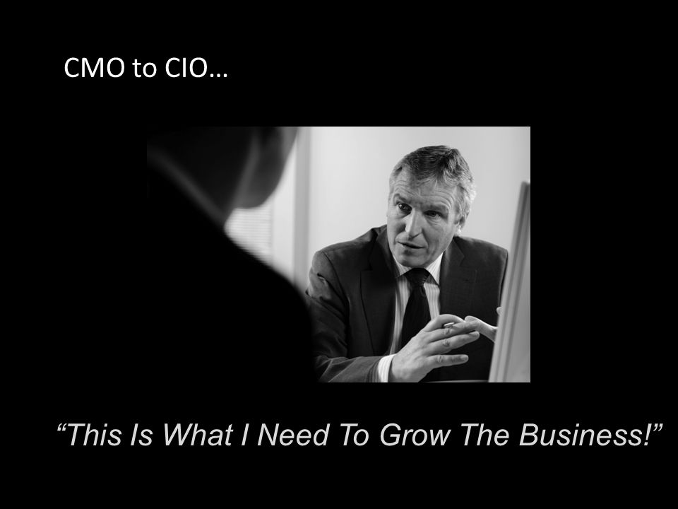 This Is What I Need To Grow The Business! CMO to CIO…