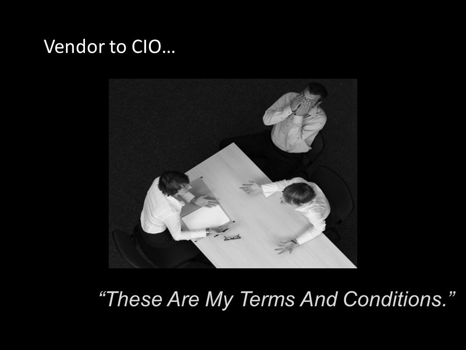 This Is The Best Our Vendor Can Do. CIO to CMO…
