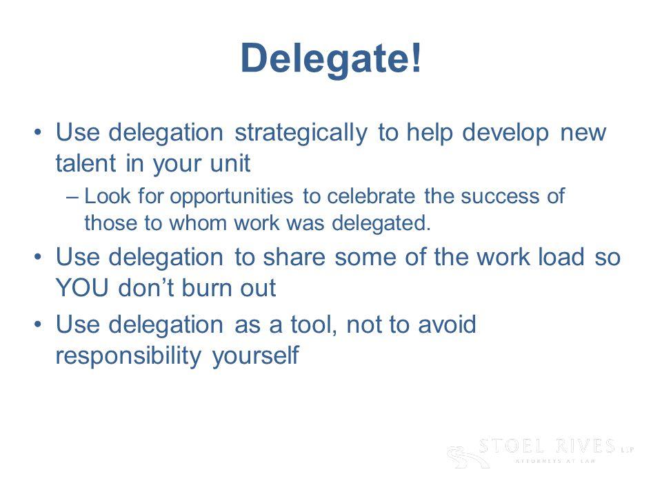Delegate.