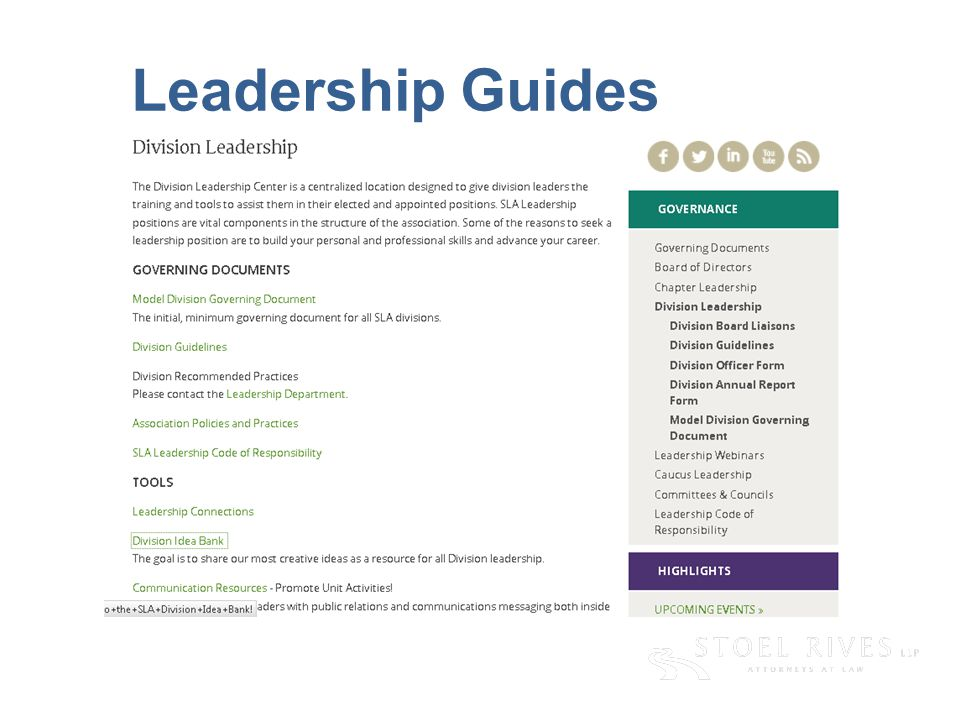 Leadership Guides