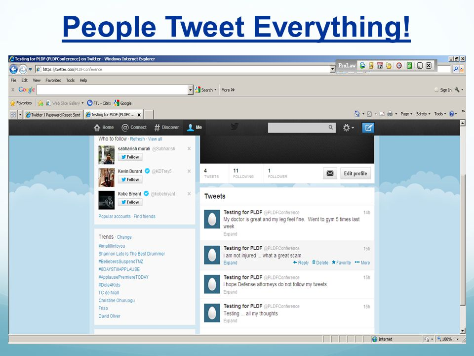 People Tweet Everything!