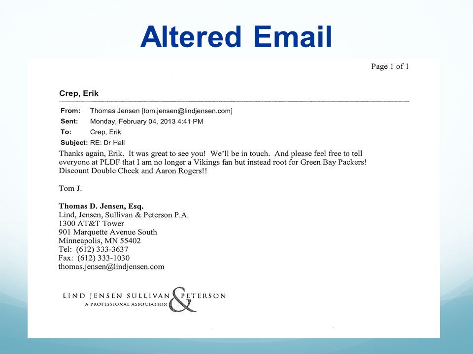 Altered Email