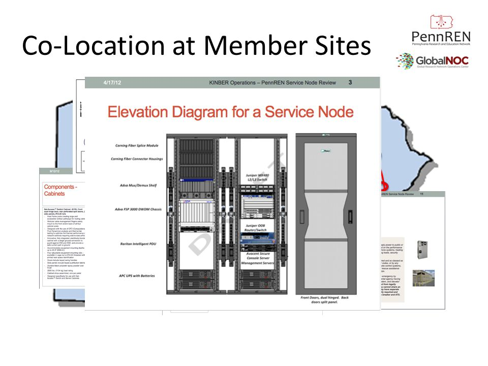 Co-Location at Member Sites Construction Diagrams