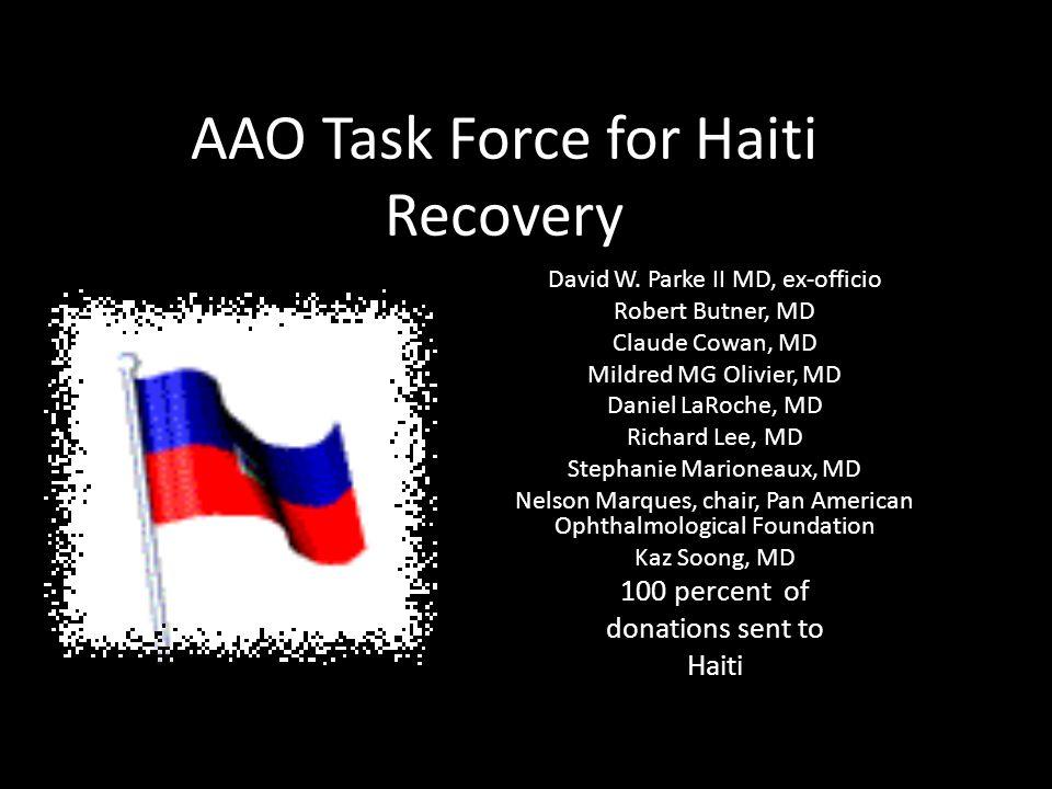 AAO Task Force for Haiti Recovery David W.