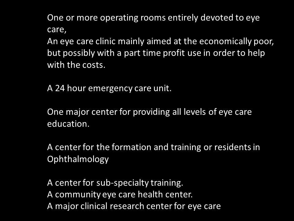 HUEH Clinic and Post operative Area Luc Nozier – Phaco – India Beatrice Valerius – Pediatric – Bascom Palmer Mike Maingrette – Phaco and Glaucoma- Ind