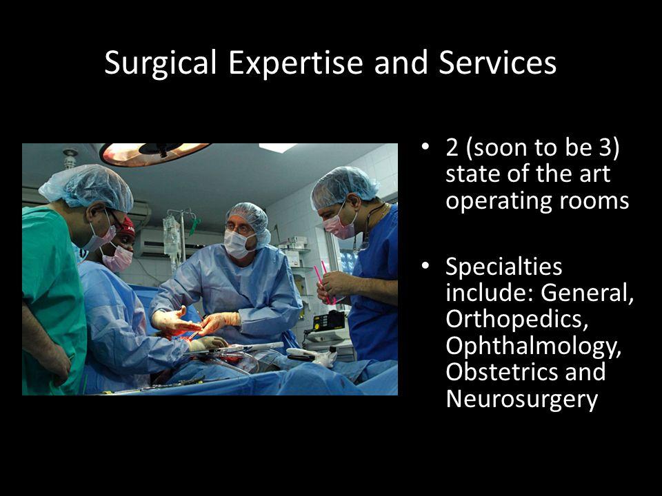 Radiology Unique Radiology program including a 16-slice CT Scanner