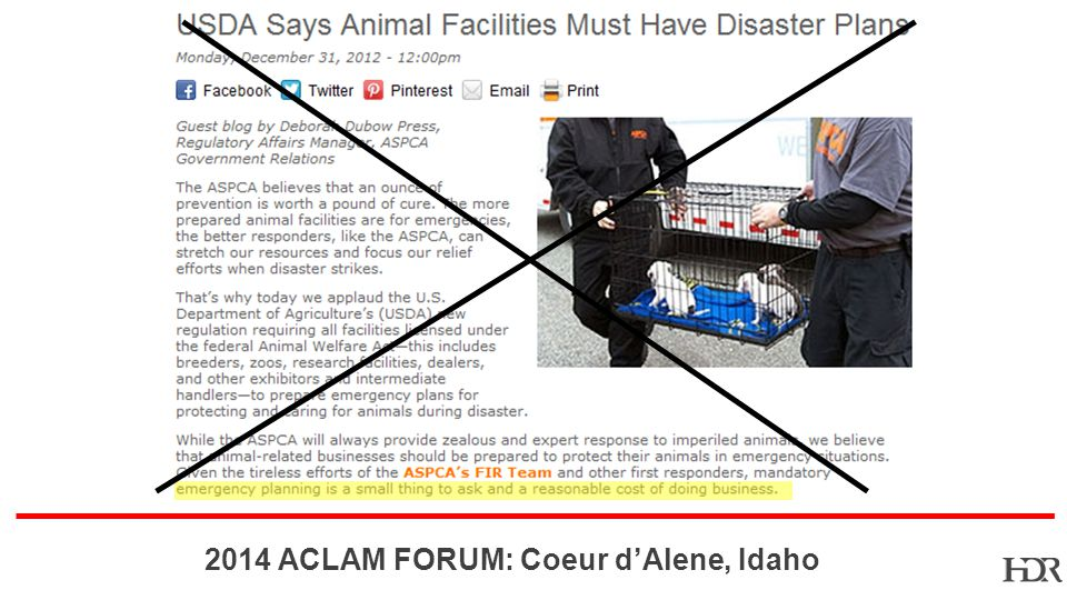 BR-10-1402 2014 ACLAM FORUM: Coeur dAlene, Idaho SINGLE POINT OF FAILURE Design Strategies: Adaptable room design; supports multiple species; Positive or negative air flow; Individual cage environment Emergency powered equipment Maintained spare parts