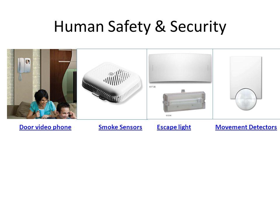 Human Safety & Security Door video phoneSmoke SensorsMovement DetectorsEscape light
