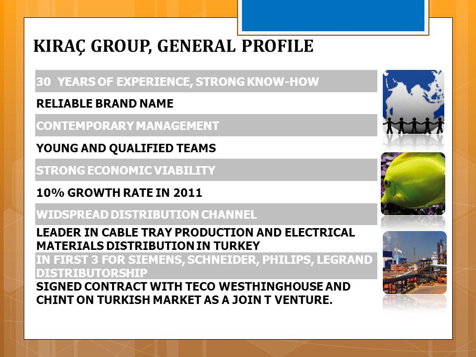 30 YEARS OF EXPERIENCE, STRONG KNOW-HOW RELIABLE BRAND NAME CONTEMPORARY MANAGEMENT YOUNG AND QUALIFIED TEAMS STRONG ECONOMIC VIABILITY 10% GROWTH RAT