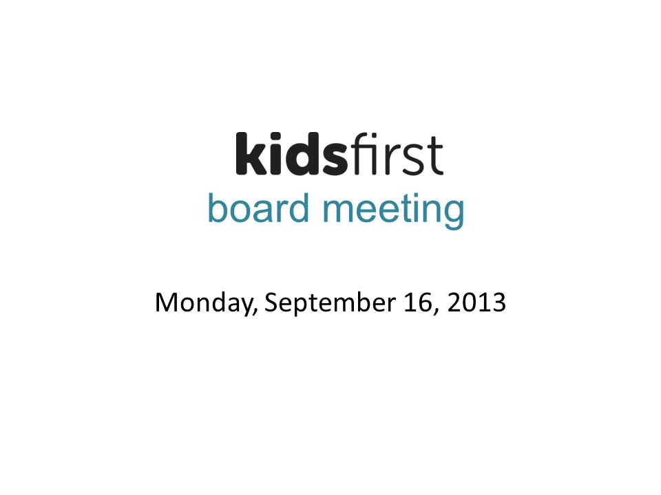 board meeting Monday, September 16, 2013