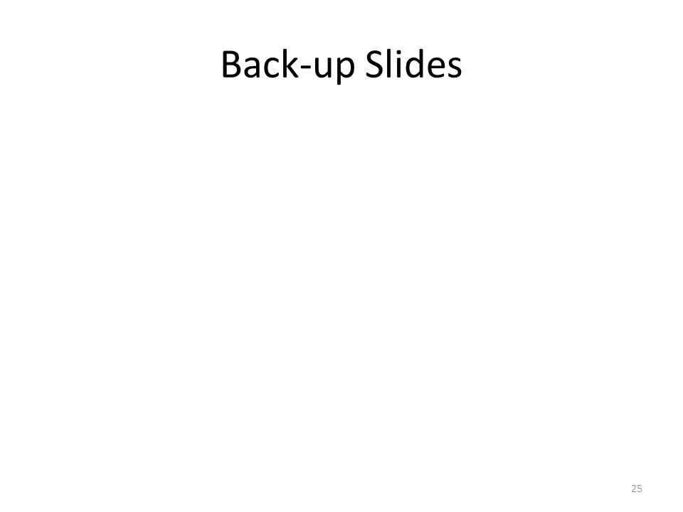 Back-up Slides 25