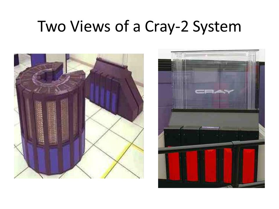 Two Views of a Cray-2 System