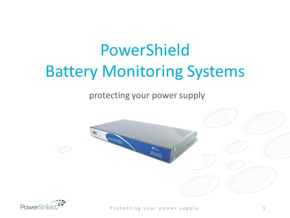 PowerShield Link Software Comprehensive user report set Preformatted PDF or Raw CSV data Facility summary Discharge – individual events in detail, activity summary Trending – Impedance change, end-of-life, charge voltage, temperature Alarm history, fault tracking, service log Warranty claim support documentation Reports suitable for management & service teams Independent remote Reporting Service available P r o t e c t i n g y o u r p o w e r s u p p l y12