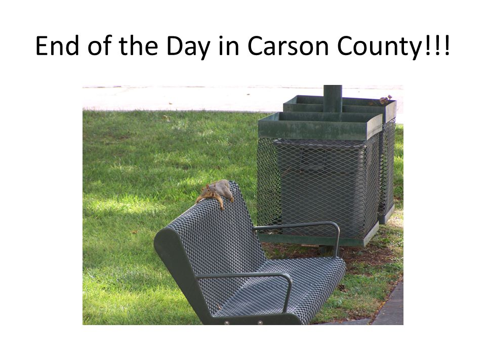 End of the Day in Carson County!!!