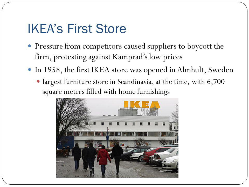 IKEA Related to Blue Ocean Strategy Constantly lowering prices Adjust to different environments (globalization) Continuous innovation Flat-packing Furniture can be sent home with consumer Lower transportation costs The IKEA Experience Children play area Unique store layout and services IKEA Restaurant