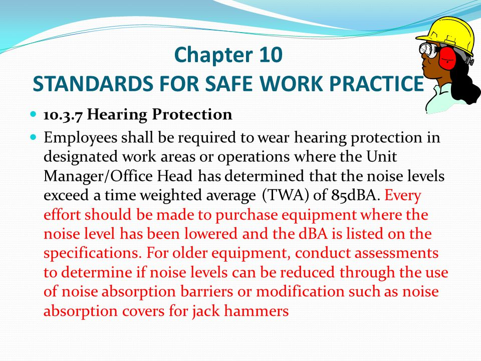 Chapter 10 STANDARDS FOR SAFE WORK PRACTICE 10.3.8.1 Safety Harnesses, Lifelines, and Lanyards (D) Personal fall arrest systems and components subject to impact loading shall not be used again until both have been inspected by a competent person for serviceability.