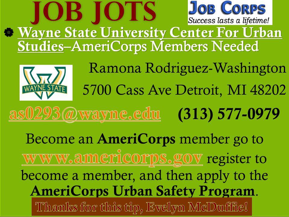 Job Jots