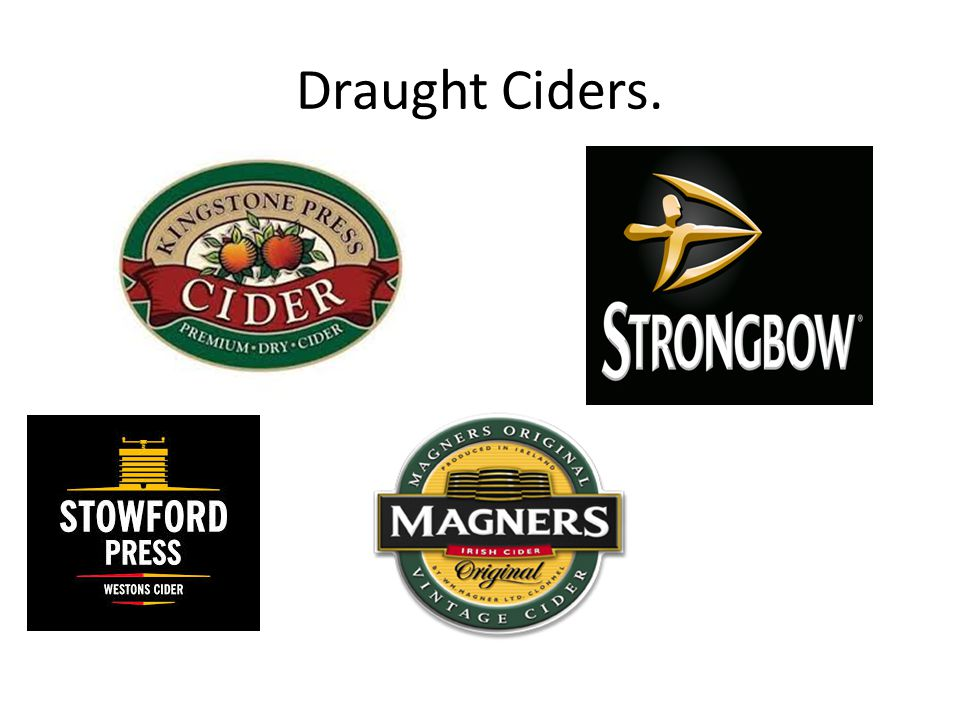Draught Ciders.