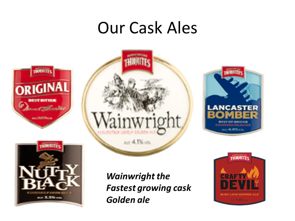 Our Cask Ales Wainwright the Fastest growing cask Golden ale