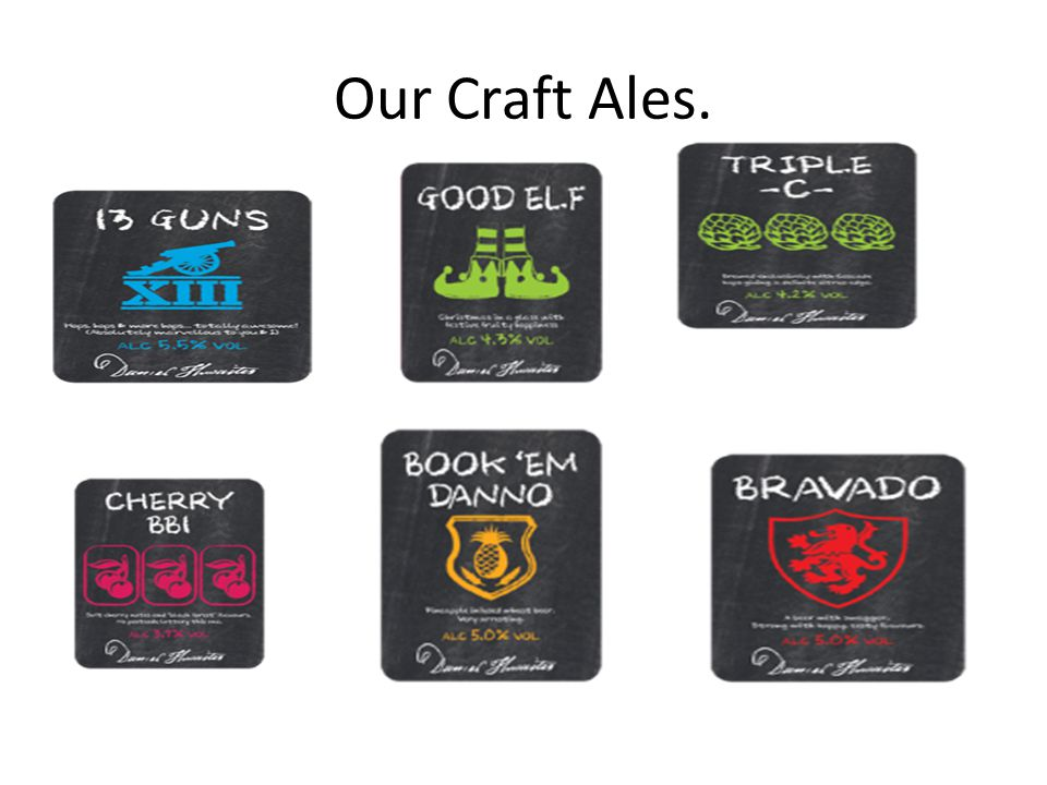Our Craft Ales.