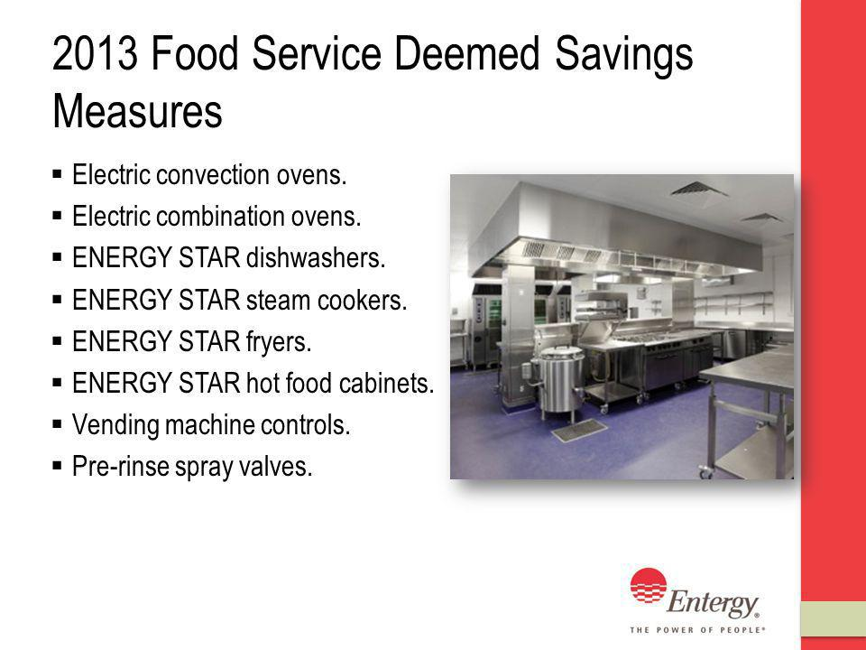 2013 Food Service Deemed Savings Measures Electric convection ovens.