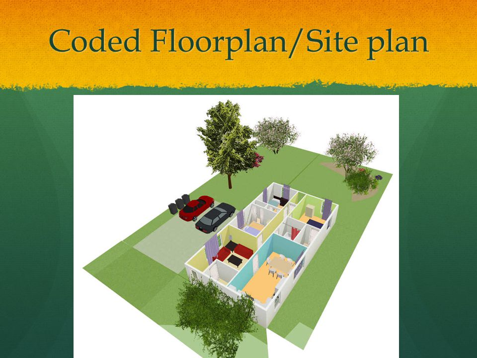 Coded Floorplan/Site plan