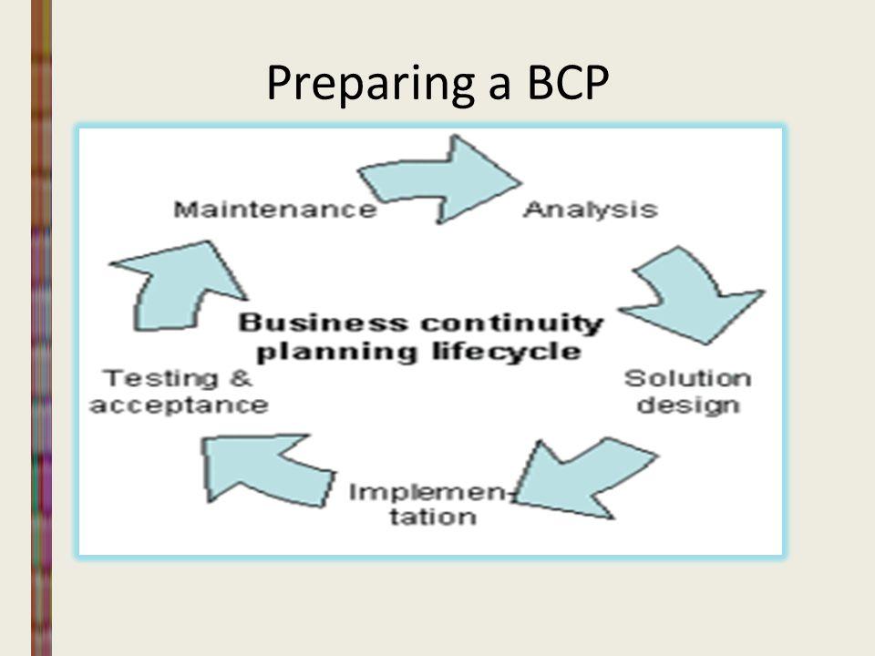 Preparing a BCP