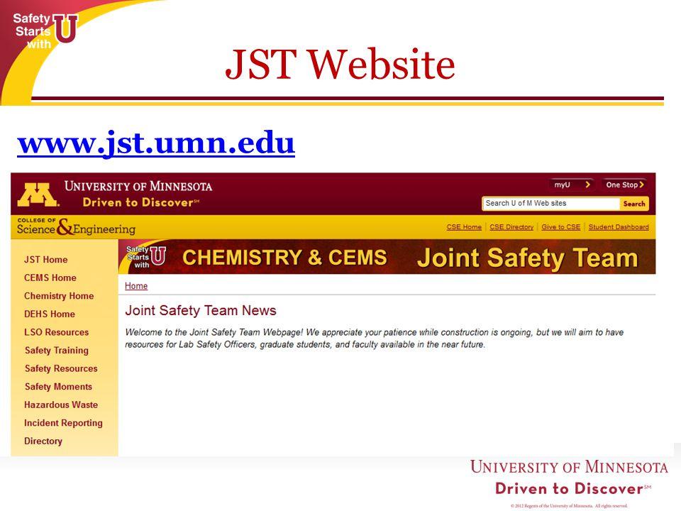 JST Website www.jst.umn.edu