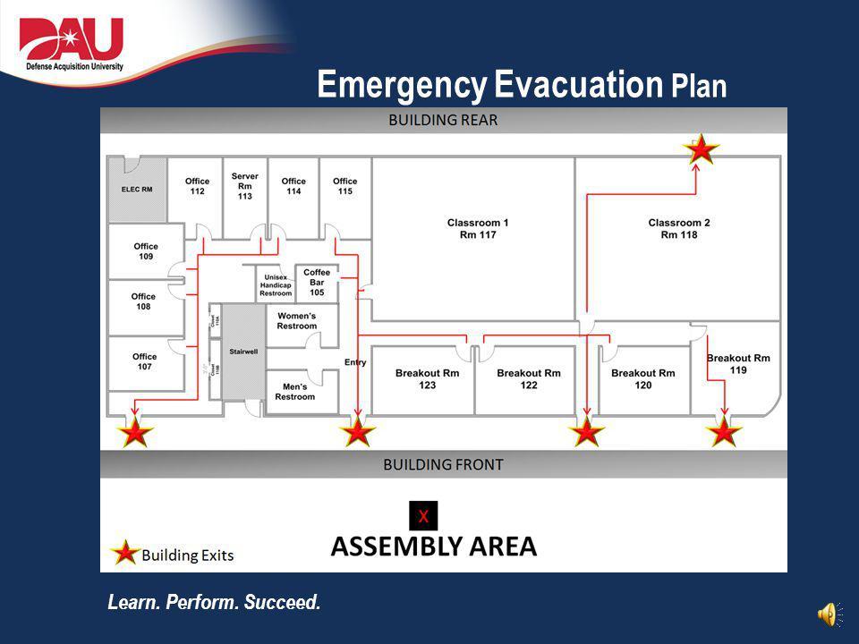 Learn. Perform. Succeed. Emergency Evacuation Plan