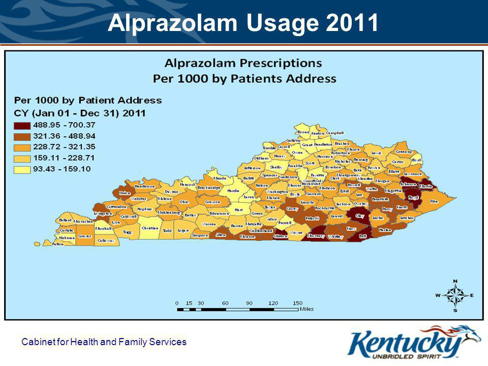 Cabinet for Health and Family Services Alprazolam Usage 2011