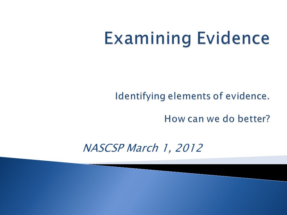 NASCSP March 1, 2012