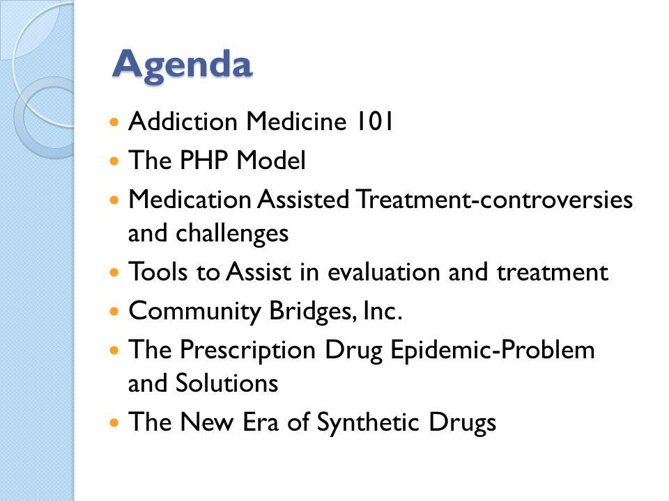 Possible Solutions Education for Providers, contd Effects of controlled substances on cognition and performance Treatment options for patients who become addicted and how to access appropriate treatment options Monitoring/disease management Outcomes data