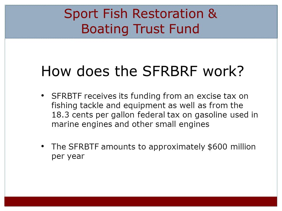 How does the SFRBRF work.
