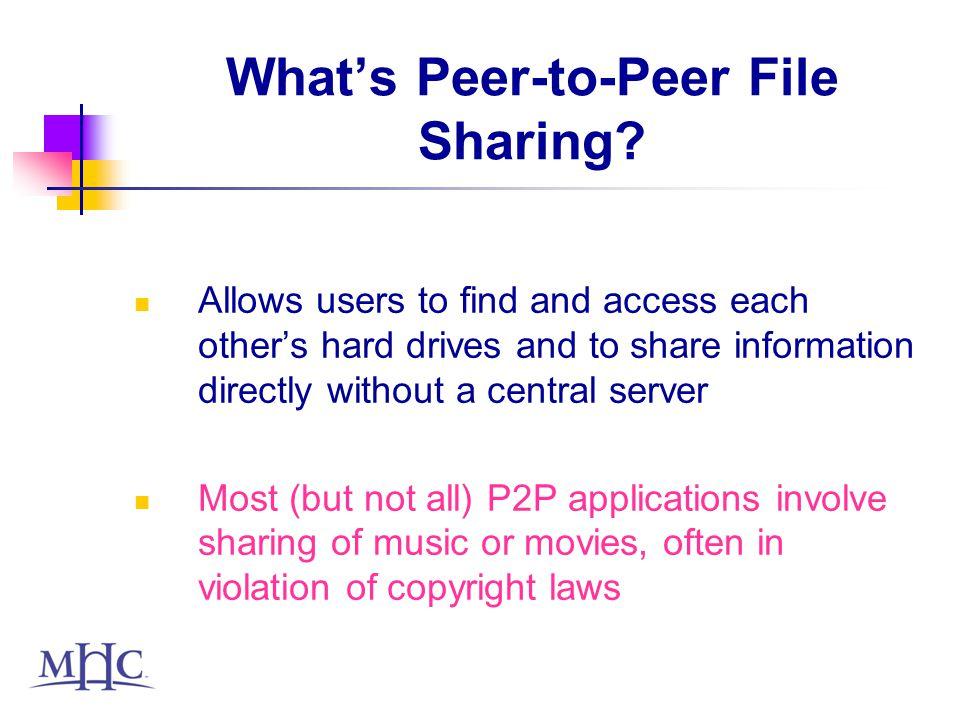 Whats Peer-to-Peer File Sharing.