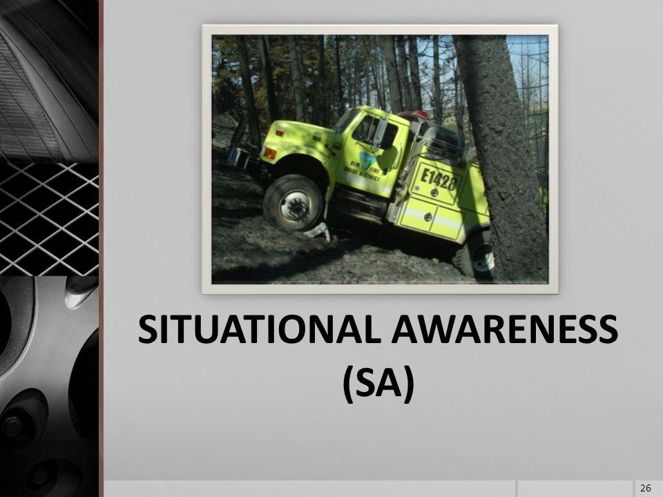 SITUATIONAL AWARENESS (SA) 26