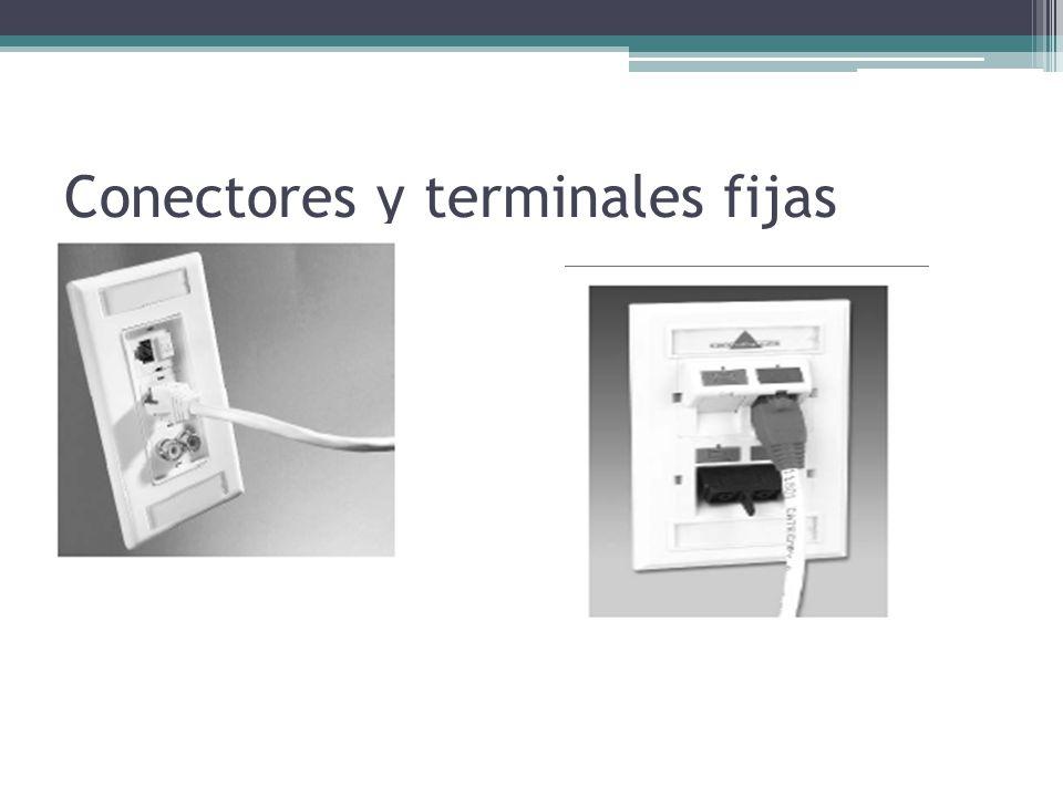 Conectores y terminales fijas