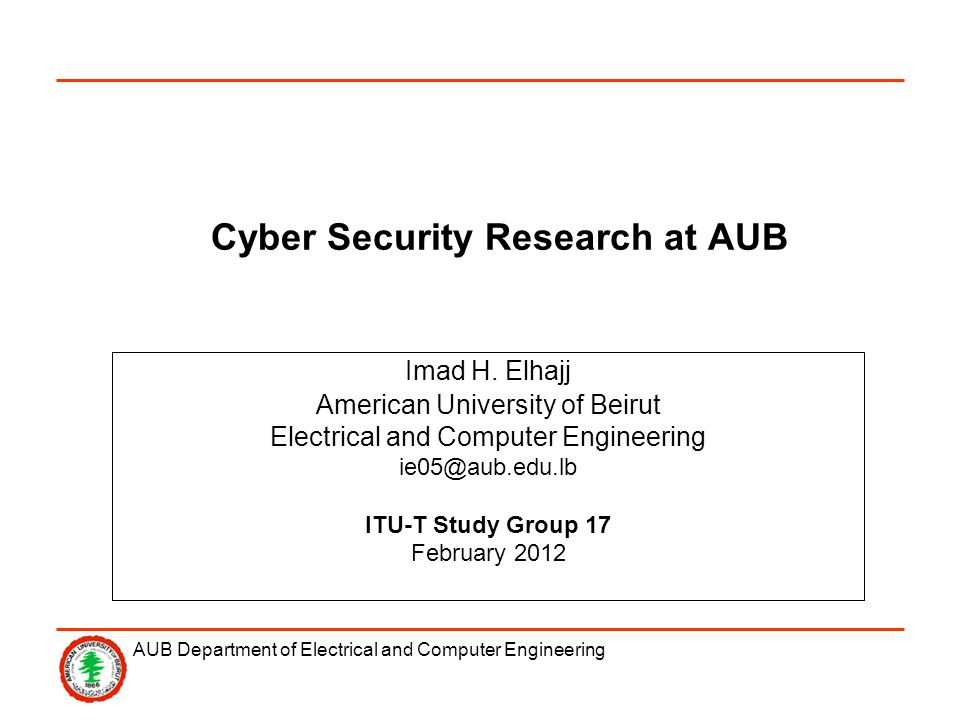 AUB Department of Electrical and Computer Engineering A Decentralized Energy-Aware Key Management Scheme for Wireless Sensor Networks WSN nodes are limited in terms of processing capabilities and battery life.