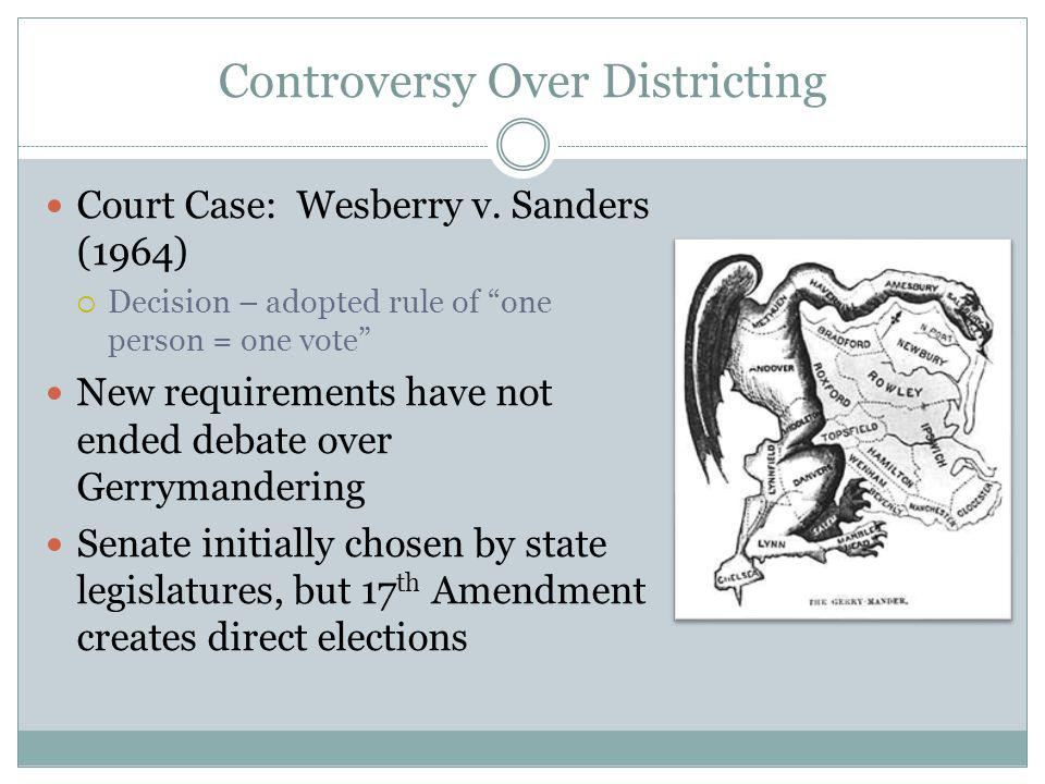 Controversy Over Districting Court Case: Wesberry v.