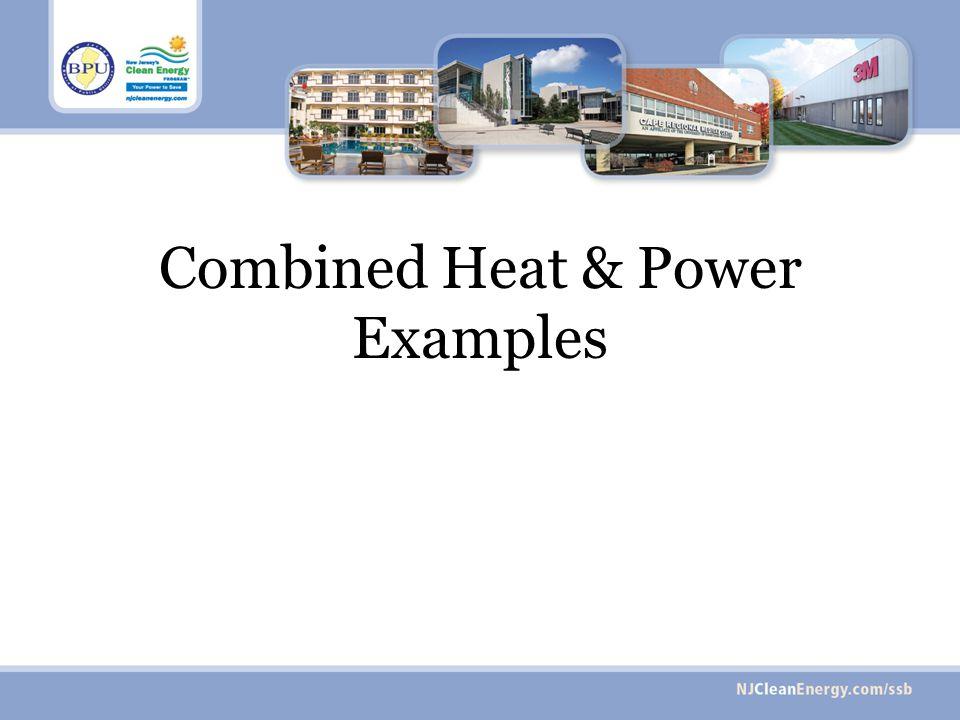 Combined Heat & Power Examples