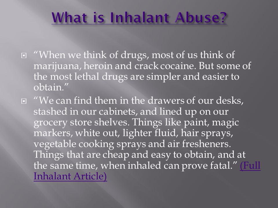 When we think of drugs, most of us think of marijuana, heroin and crack cocaine.
