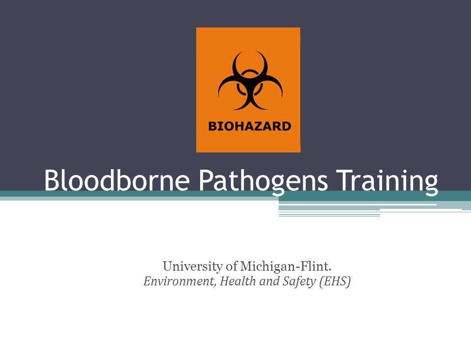 Bloodborne Pathogens Training University of Michigan-Flint. Environment, Health and Safety (EHS)