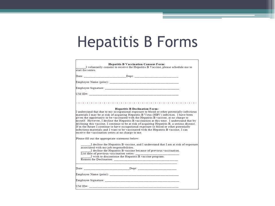 Hepatitis B Forms