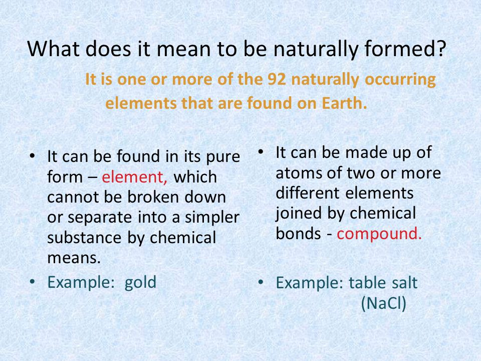 What does it mean to be inorganic? It isnt made of living things. Inorganic Or Organic?